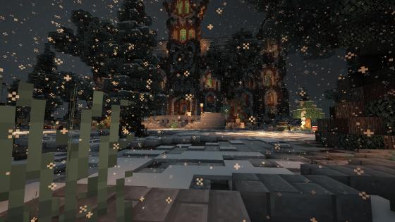 Dicecraft Server Spawn im Winter Look