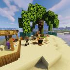 Auf der Strandinsel